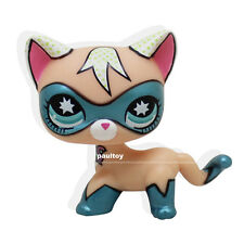 Super Rare Littlest Pet Shop COMIC CON CAT Super Hero kitten kitty Blue Eyes Toy