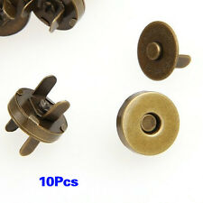 10X Magnet Metall Knopf 14mm Bronze Magnetknopf Basteln DE