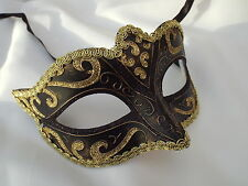 BRONZE & GOLD Venetian Masquerade Mask Party Fancy Dress Prom  BLK03