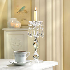 "Crystal clear acrylic 11"" tall Chandelier candelabra candlestick Candle Holder"