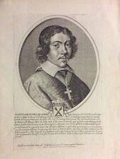 Jean-François Paul de Gondi Cardinal de Retz 1613-1679 gravure 1652 XVIIe Paris