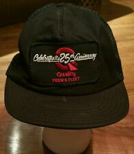 Quality Farm & Fleet Snapback Cap Trucker Hat/25th Anniversary Patch/fishing
