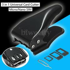 Universal 3 in 1 Micro Nano SIM Card Cutter w/ Adapters for iPhone Mobile Phone