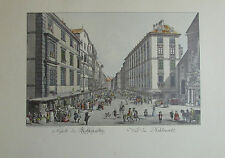 Carl Schütz ANSICHT DES KOLHMARKTS Wien Kunstblatt Reproduktion print