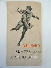 ALUMO / ALUMOS ICE SKATES & SKATING SHOES BROCHURE - 8 PAGES -ABOUT 1910 - 1920