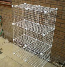 WIRE CUBE STORAGE UNIT SHOE CLOTHES STORE RACK NEW UK