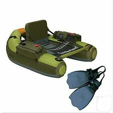 Classic Accessories Cumberland Float Tube & Fin Set, 2 Rod Holders, High Seat