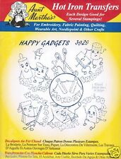Happy Gadgets #3929 Aunt Martha's Hot Iron Embroidery Transfer Pattern