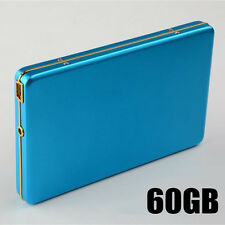 "Blue HDD 2.5"" 5400rpm External Hard Drive 60GB Aluminum Mobile Hard Disk USB2.0"