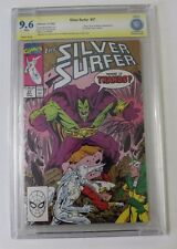 THE SILVER SURFER NO. 37, 1990 - CGC 9.6 SIGNED RON LIM, DRAX APP.