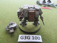 Warhammer 40k painted plastic Grey Knights Dreadnought w/ Forgeworld Arms