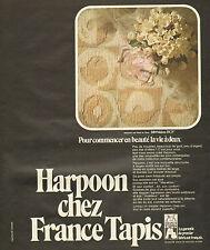Publicité 1973  France Tapis décoration intérieur de la maison ..