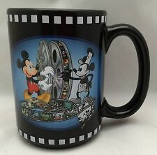 WDW Disney 75 Years With Mickey Mouse Movie Reels Black Coffee Mug Cup 16 Oz