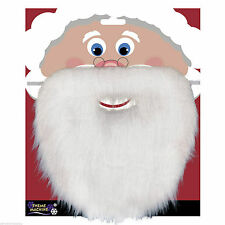Christmas Santa White Fake Beard Unisex Fancy Dress Xmas Party Accessory