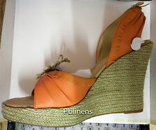PLAYBOY SANDALS SHOES BURNT ORANGE SIZE 8 BRAND NEW IN BOX
