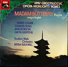 Puccini Madam Butterfly Balkwill Sadlers Hilits in English HMV ESD 7030 SEALED