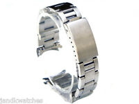 Stainless Steel Oyster Solid Link Curved Ends Watch Band