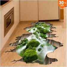 3d Stream Floor Decor Wall Sticker asportabile Mural Decals Vinile Art Home decorat