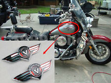 Fuel Gas Tank Left/Right Badge Emblem Decal Sticker For Kawasaki Vulcan Classic
