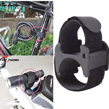 Hiking Bike Torch Flashlight Holder Handlebar Mount Bracket Clamp Hasp Lockblock