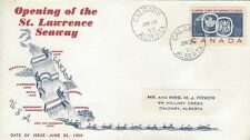 1959 #387 St Lawrence Seaway FDC on unusual cachet