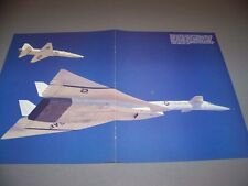 VINTAGE..XB-70 VALKRIE.....FULL COLOR FLIGHT POSTER..RARE! (343G)