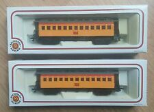HO Scale Lot of 2 NIB Bachmann Old Time Wood Passenger Cars Union Pacific Coach