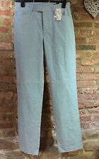 WOMENS ladies fine checked trousers BLUE waist 30 inches fits UK size 12-14 BNWT
