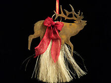 Genuine Horsehair Elk Western Christmas Ornament