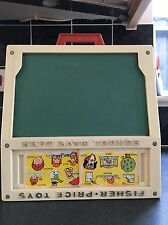 Fisher Price Vintage Retro School Days Desk & Accessories 1970s