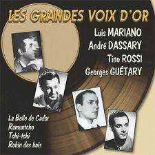 CD Les grandes voix d'or / Luis Mariano, Dassary, Guetary, Tino Rossi / IMPORT
