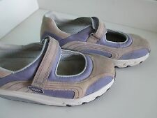 MBT LAMI Women Size 9.5 M Gray Purple Mary Jane Toning Walking Shoes Orig $200