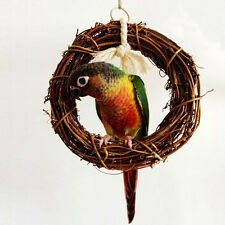 Bird Toy Pet Rattan Swing Cage Hanging Ring For Parrot Cockatiels Budgie Finch