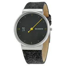 Skagen Ancher Grey Sandblast Dial Grey Felt Strap Mens Watch SKW6199