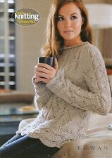 "Knitting pattern Ladies Girls Feminine Tunic 3 1/4 mm 4 mm DK Wool 32""- 42"""
