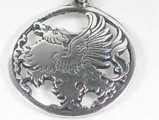 The Mythical Gryphon, Handmade pewter pendant, Riches, strength power