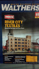 3178 Walthers River City Textiles  Background Building HO Scale