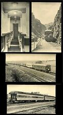 4 Postcards PULLMAN CORNHUSKER CLUB Built 1924 UNION PACIFIC RAILROAD MT. DOANE
