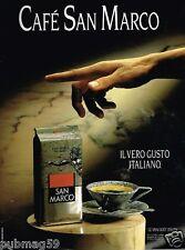 Publicité advertising 1990 Le Café san Marco