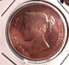 CIRCULATED 1845 1 CENT EAST INDIA CO. COIN !