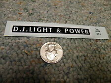 Herald King decals HO D. J. Light and Power    black ZZ104