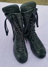 *CAMPER* black leather boxer's lace-up ankle boots - UK 4.5 EU 37 US 6.5