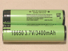 2 PANASONIC NCR18650B LI-ION BATTERY 3400mAh 3.7v 18650 PROTECTION PCB JAPAN