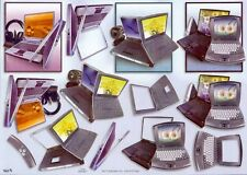 Embossed Computer 3D Decoupage Sheet Card Making Paper Craft *CUTTING REQUIRED*