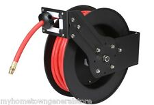 3/8 in. x 50 ft. Retractable Air Hose Reel for Compressors Garage Shop 250 PSI