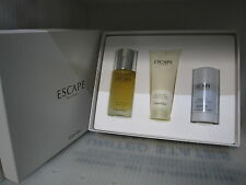 ESCAPE MEN CALVIN KLEIN 3 Pc Set:3.4 EDT Spray,2.6 Deodorant,3.4 A/S Balm