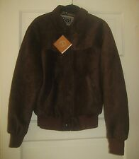 NWT GE NEW COLLECTION MEN'S BROWN BOMBER JACKET SZ S / 48