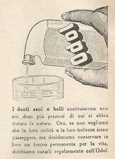 W1633 Dentifricio ODOL - Pubblicità del 1930 - Old advertising