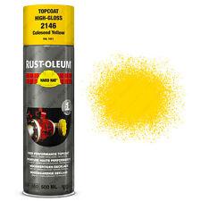 x2 Industriel Rust-Oleum Colza Jaune Peinture Aérosol Solide Chapeau 500ml RAL