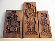 Vintage GERMAN Wooden Springerle SPECULAAS Stamp Press Cookie Mold KNIGHT MANN